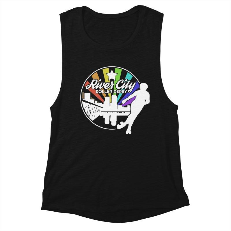 2019 Pride (alt) Women's Muscle Tank by River City Roller Derby's Artist Shop