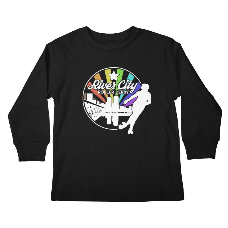 2019 Pride (alt) Kids Longsleeve T-Shirt by River City Roller Derby's Artist Shop