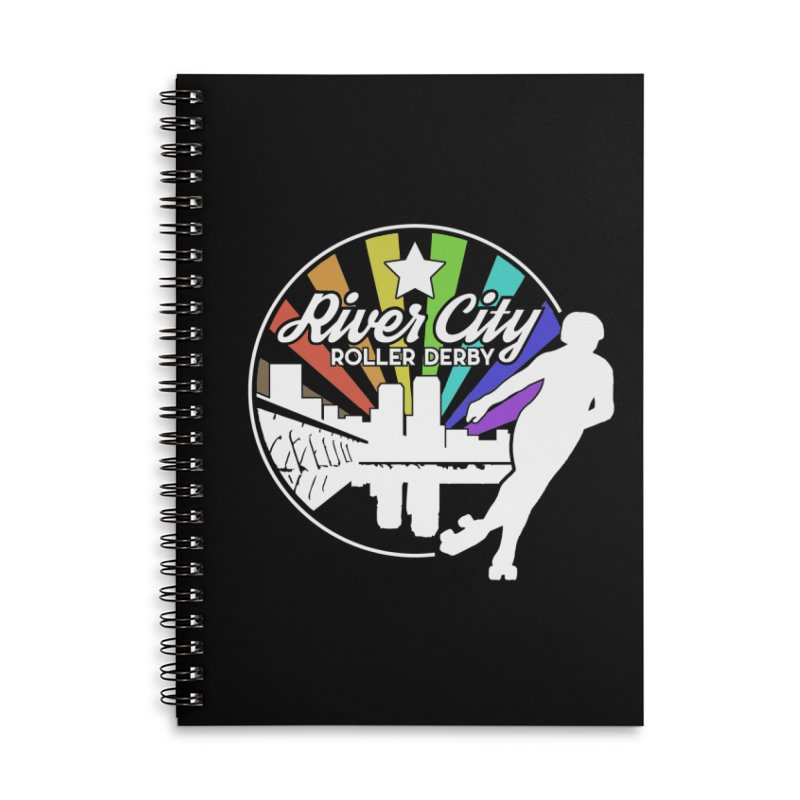 2019 Pride (alt) Accessories Lined Spiral Notebook by River City Roller Derby's Artist Shop