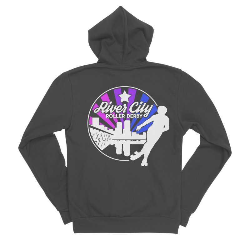 2019 Bi Pride (alt) Women's Sponge Fleece Zip-Up Hoody by River City Roller Derby's Artist Shop