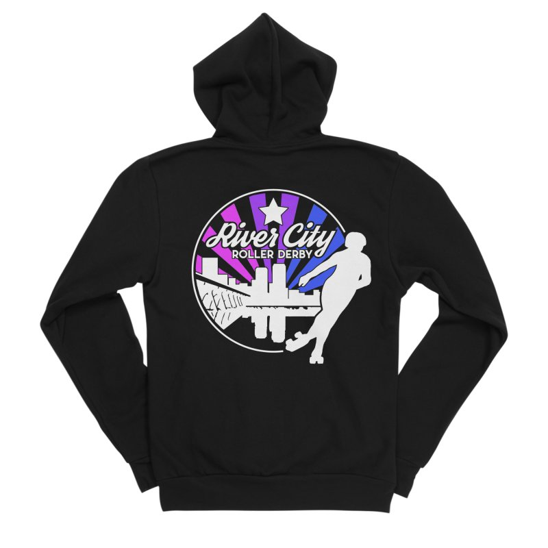 2019 Bi Pride (alt) Men's Sponge Fleece Zip-Up Hoody by River City Roller Derby's Artist Shop