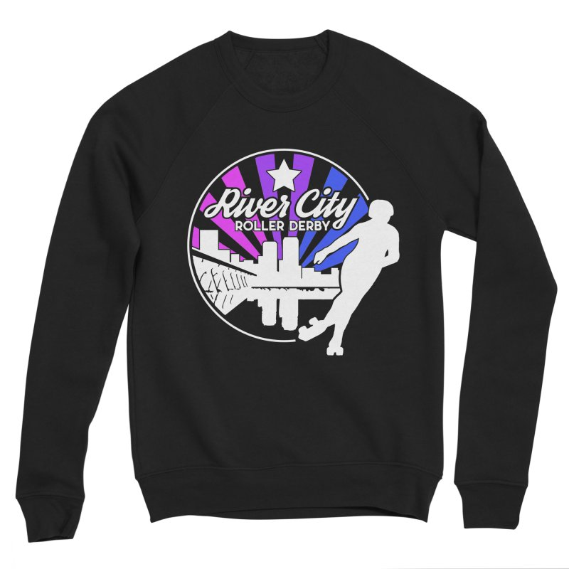 2019 Bi Pride (alt) Men's Sponge Fleece Sweatshirt by River City Roller Derby's Artist Shop