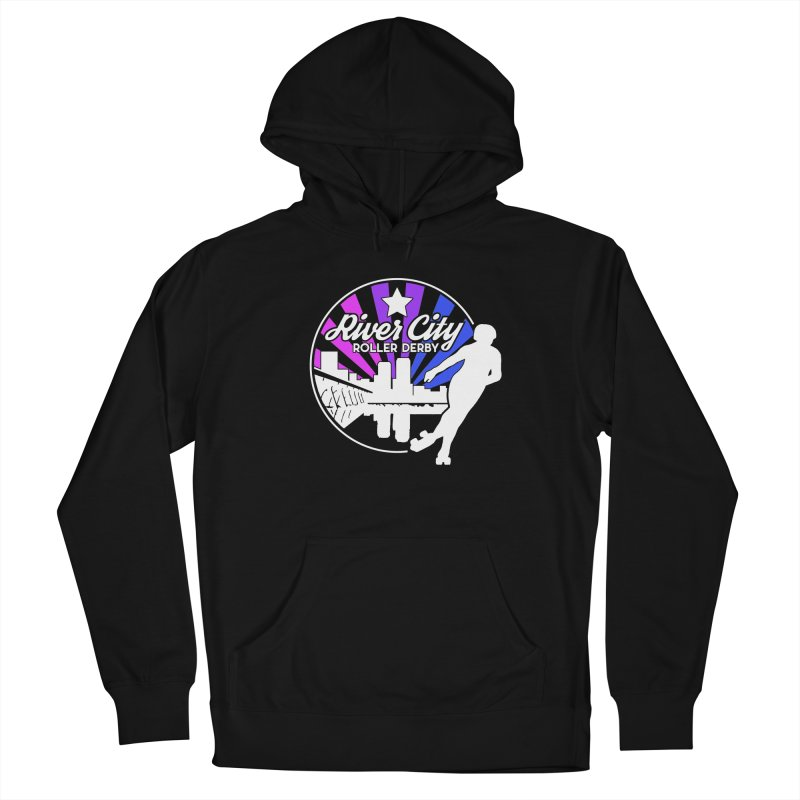 2019 Bi Pride (alt) Men's French Terry Pullover Hoody by River City Roller Derby's Artist Shop