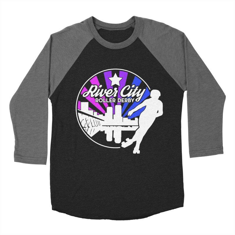 2019 Bi Pride (alt) Men's Baseball Triblend Longsleeve T-Shirt by River City Roller Derby's Artist Shop