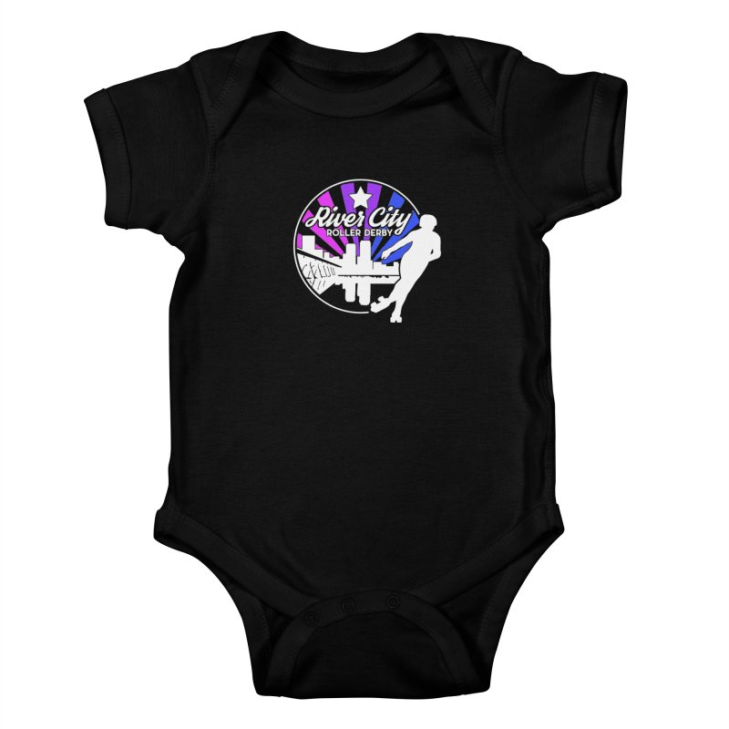 2019 Bi Pride (alt) Kids Baby Bodysuit by River City Roller Derby's Artist Shop
