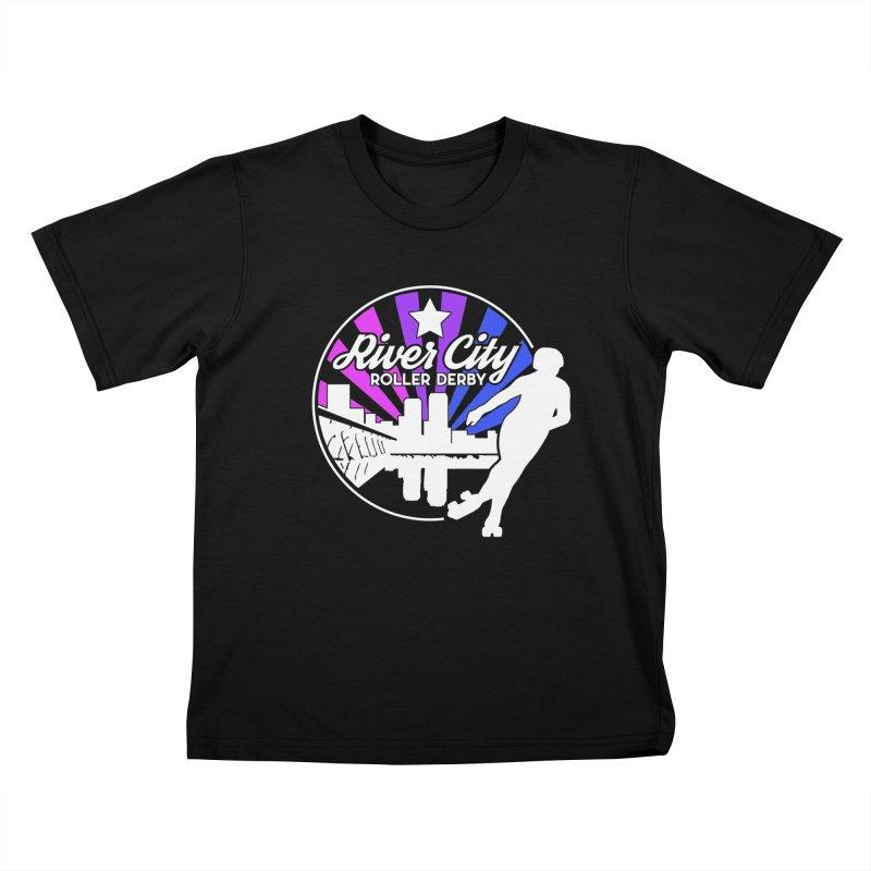 2019 Bi Pride (alt) Kids T-Shirt by River City Roller Derby's Artist Shop