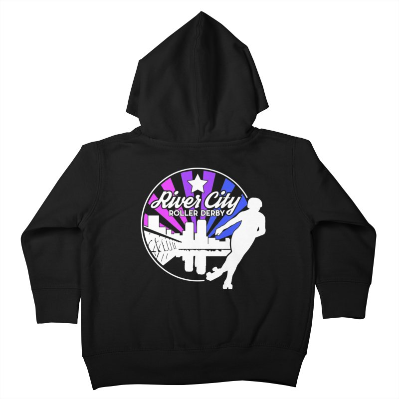 2019 Bi Pride (alt) Kids Toddler Zip-Up Hoody by River City Roller Derby's Artist Shop