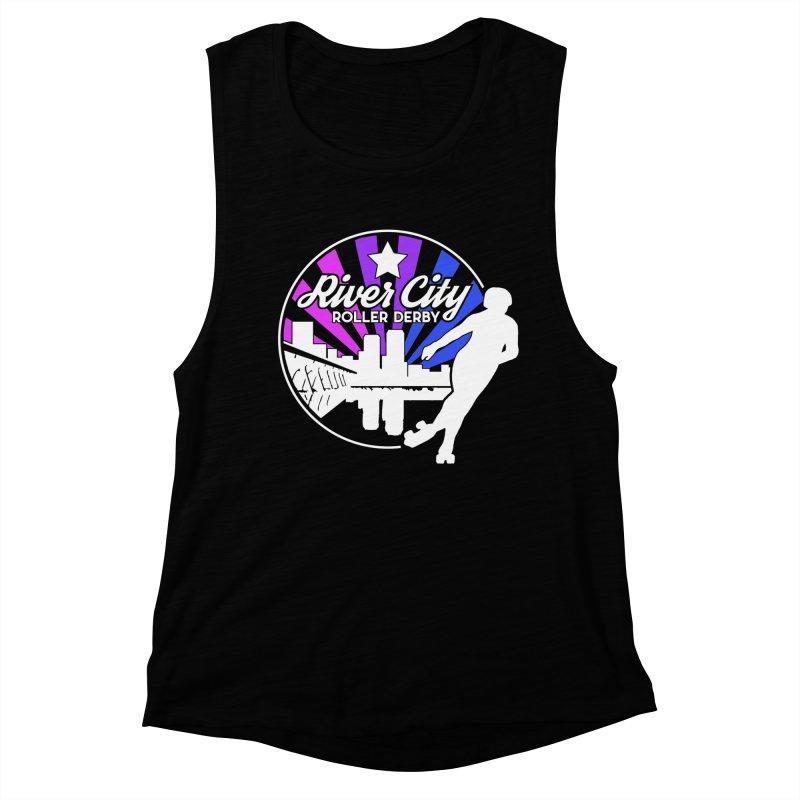 2019 Bi Pride (alt) Women's Muscle Tank by River City Roller Derby's Artist Shop
