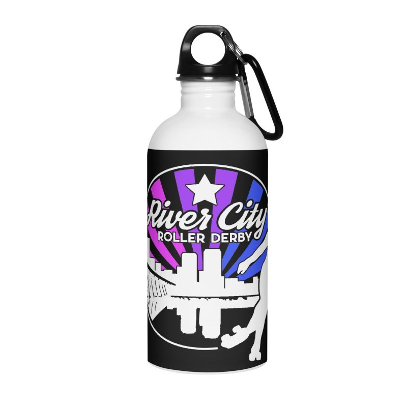 2019 Bi Pride (alt) Accessories Water Bottle by River City Roller Derby's Artist Shop