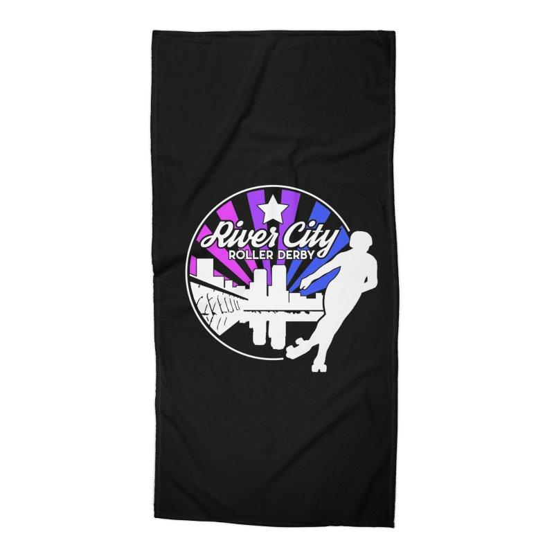 2019 Bi Pride (alt) Accessories Beach Towel by River City Roller Derby's Artist Shop