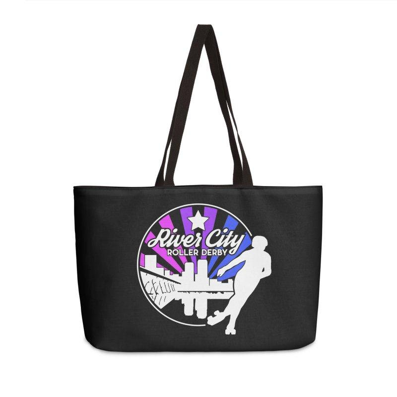 2019 Bi Pride (alt) Accessories Weekender Bag Bag by River City Roller Derby's Artist Shop