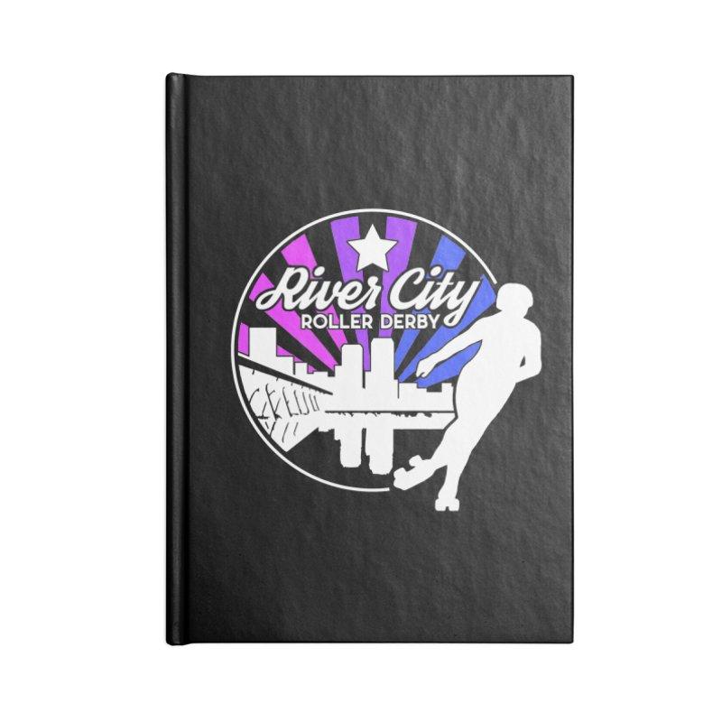 2019 Bi Pride (alt) Accessories Blank Journal Notebook by River City Roller Derby's Artist Shop