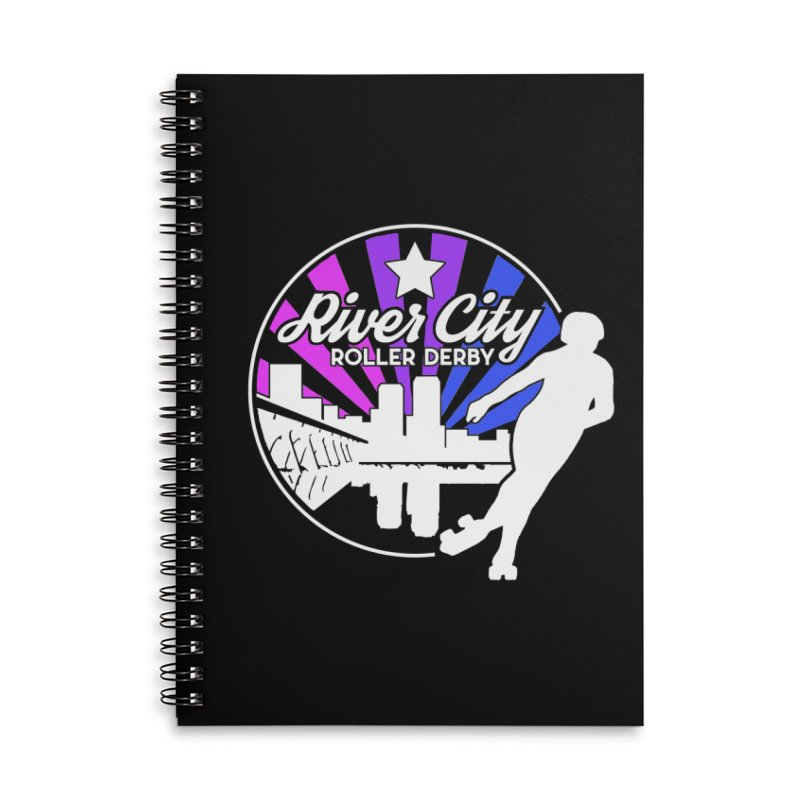 2019 Bi Pride (alt) Accessories Lined Spiral Notebook by River City Roller Derby's Artist Shop