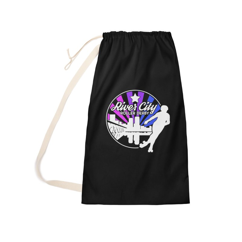 2019 Bi Pride (alt) Accessories Laundry Bag Bag by River City Roller Derby's Artist Shop