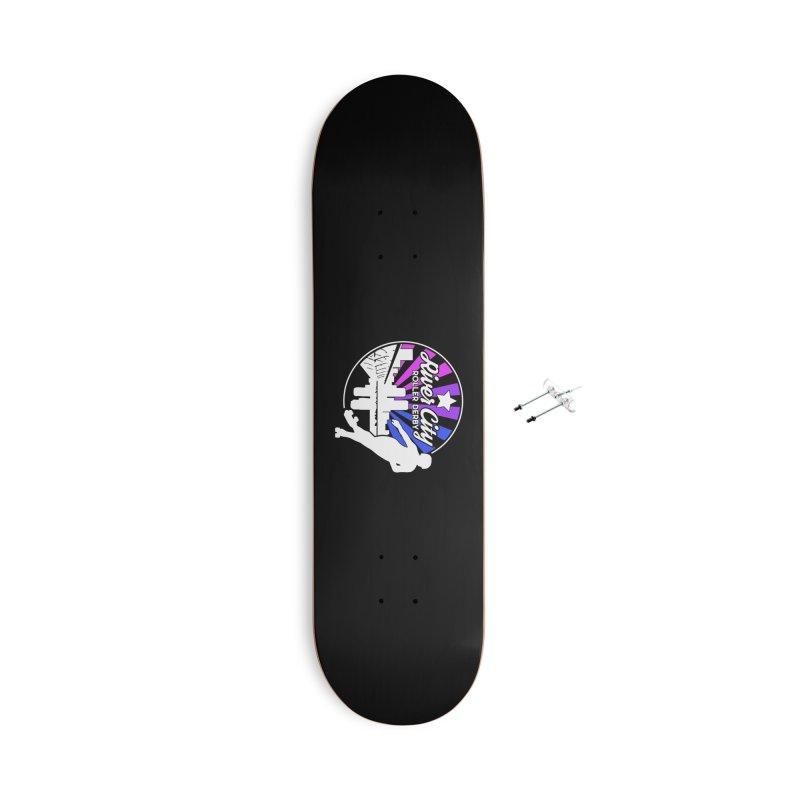 2019 Bi Pride (alt) Accessories With Hanging Hardware Skateboard by River City Roller Derby's Artist Shop