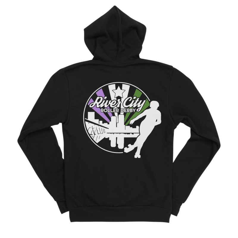 2019 Genderqueer Pride (alt) Women's Sponge Fleece Zip-Up Hoody by River City Roller Derby's Artist Shop