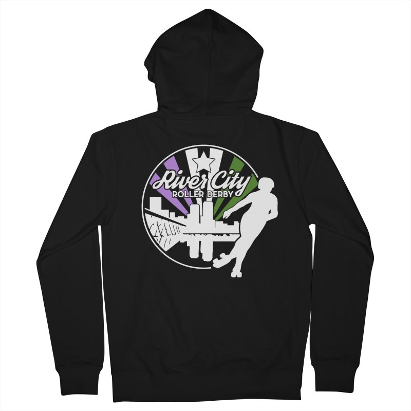 2019 Genderqueer Pride (alt) Women's French Terry Zip-Up Hoody by River City Roller Derby's Artist Shop
