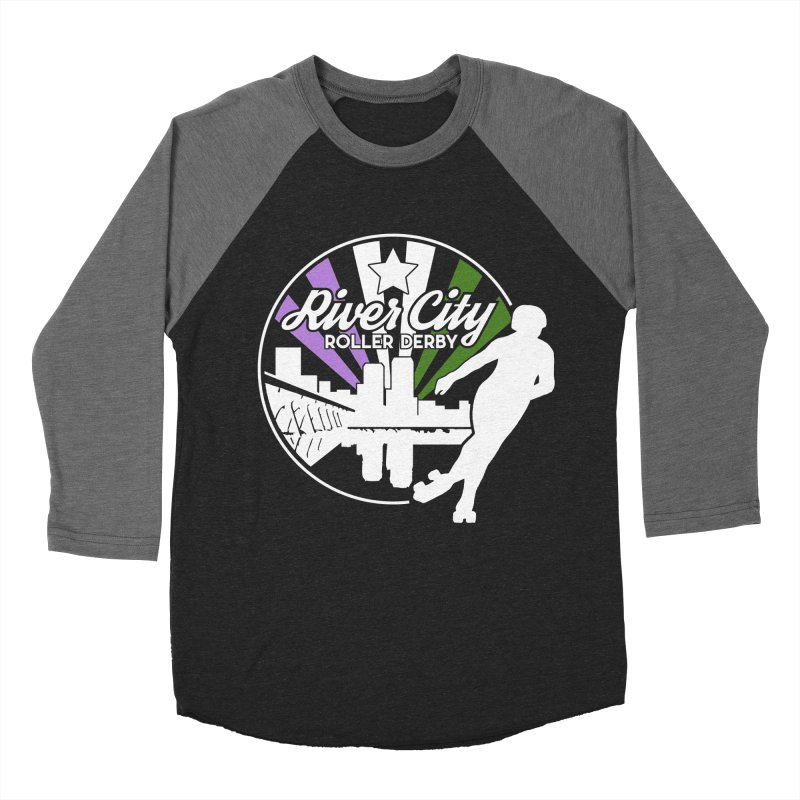 2019 Genderqueer Pride (alt) Women's Baseball Triblend Longsleeve T-Shirt by River City Roller Derby's Artist Shop