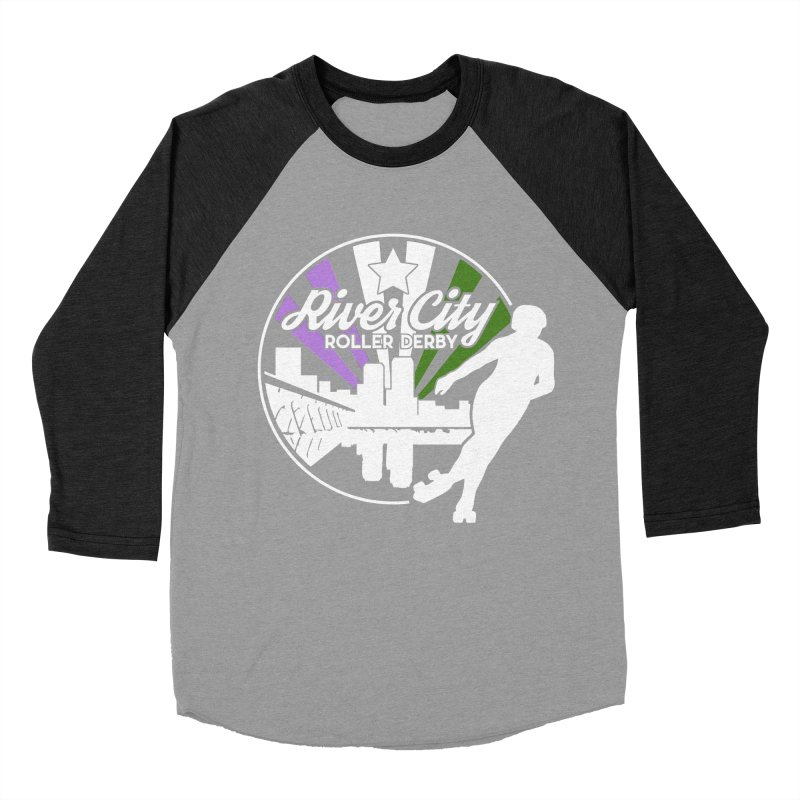 2019 Genderqueer Pride (alt) Men's Baseball Triblend Longsleeve T-Shirt by River City Roller Derby's Artist Shop