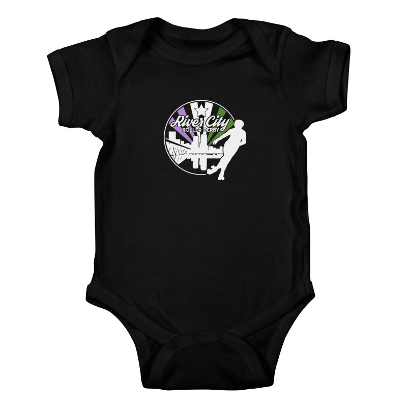 2019 Genderqueer Pride (alt) Kids Baby Bodysuit by River City Roller Derby's Artist Shop