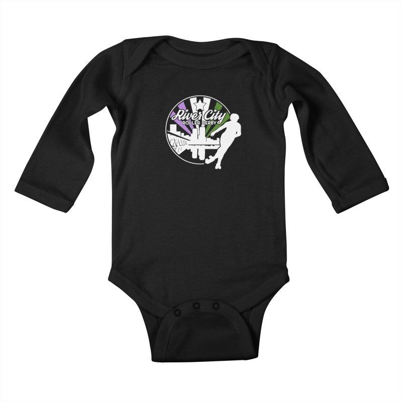 2019 Genderqueer Pride (alt) Kids Baby Longsleeve Bodysuit by River City Roller Derby's Artist Shop