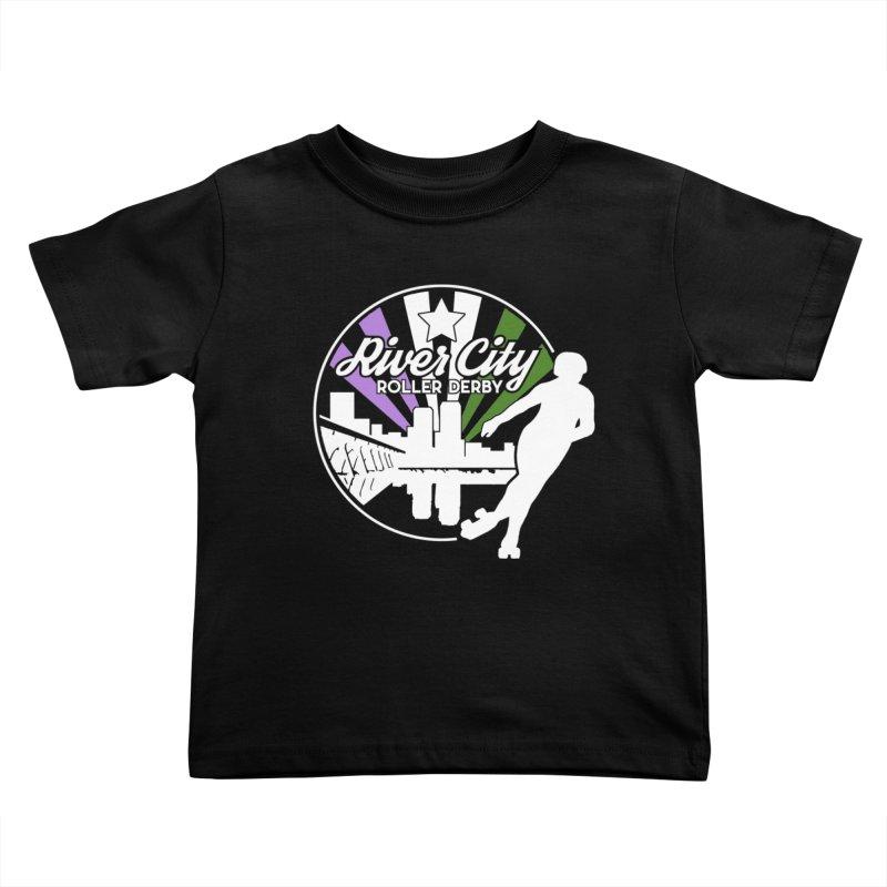 2019 Genderqueer Pride (alt) Kids Toddler T-Shirt by River City Roller Derby's Artist Shop