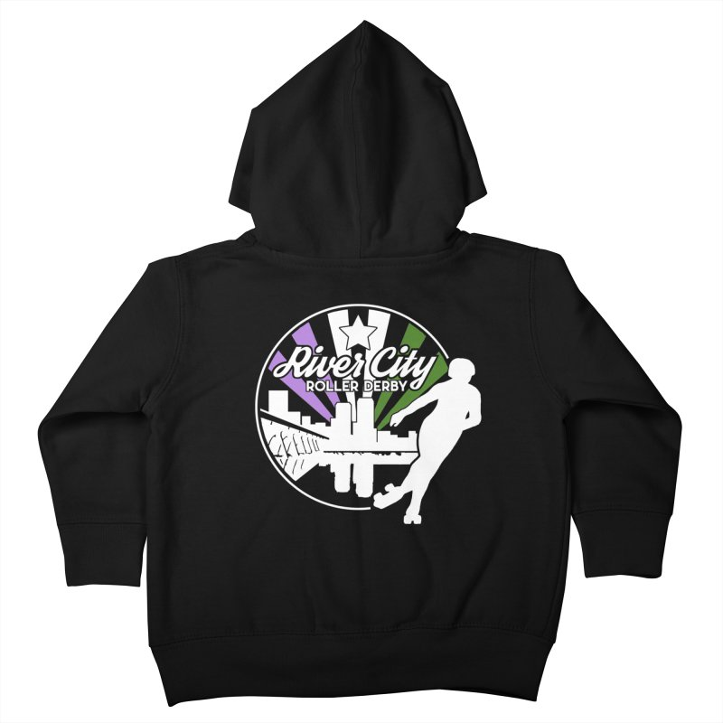 2019 Genderqueer Pride (alt) Kids Toddler Zip-Up Hoody by River City Roller Derby's Artist Shop