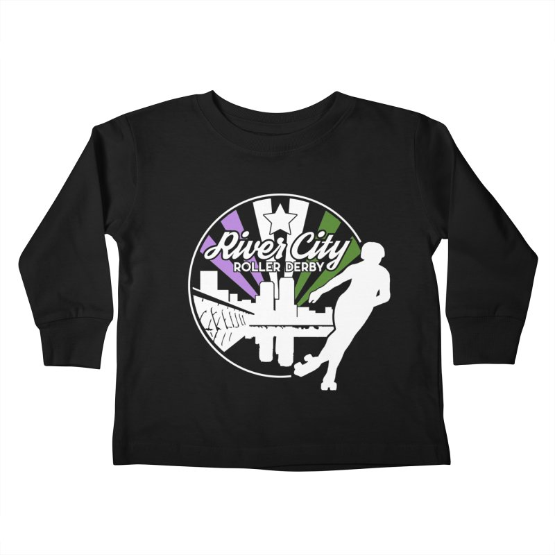 2019 Genderqueer Pride (alt) Kids Toddler Longsleeve T-Shirt by River City Roller Derby's Artist Shop