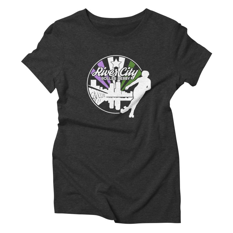2019 Genderqueer Pride (alt) Women's Triblend T-Shirt by River City Roller Derby's Artist Shop