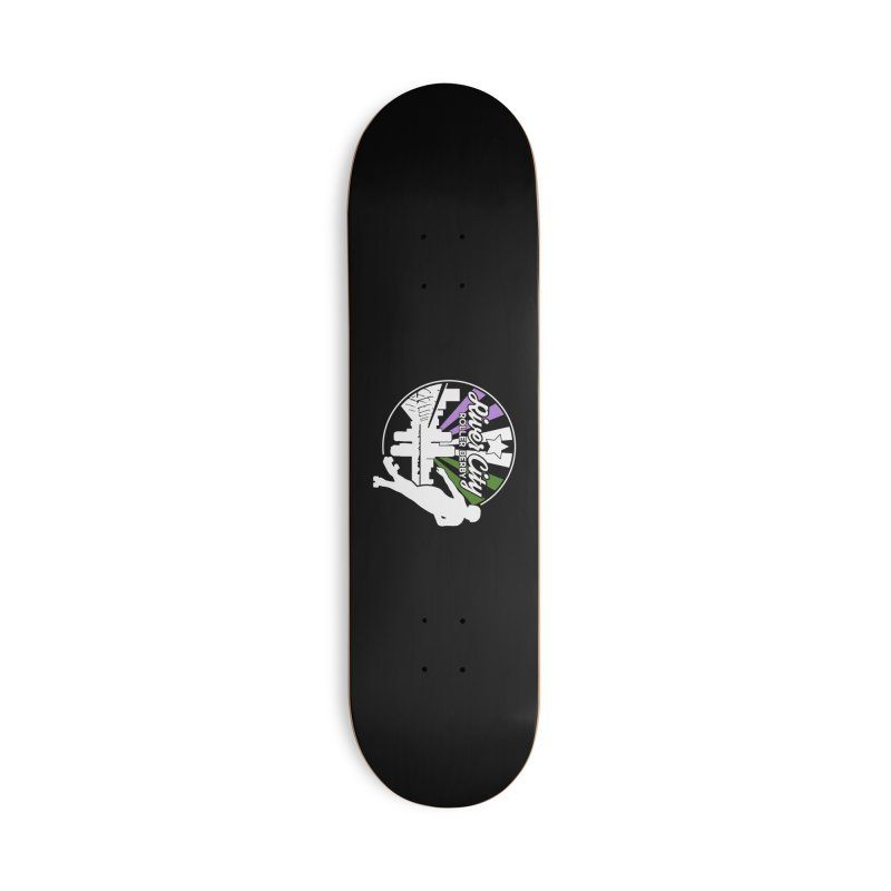 2019 Genderqueer Pride (alt) Accessories Deck Only Skateboard by River City Roller Derby's Artist Shop