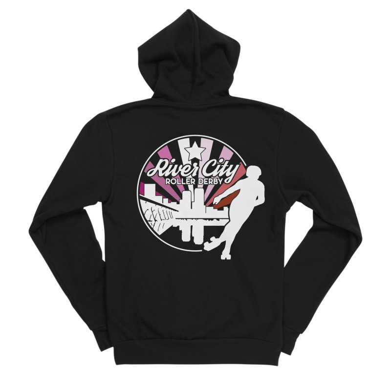 2019 Lesbian pride (alt) Men's Sponge Fleece Zip-Up Hoody by River City Roller Derby's Artist Shop