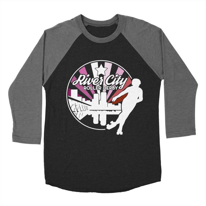 2019 Lesbian pride (alt) Women's Baseball Triblend Longsleeve T-Shirt by River City Roller Derby's Artist Shop