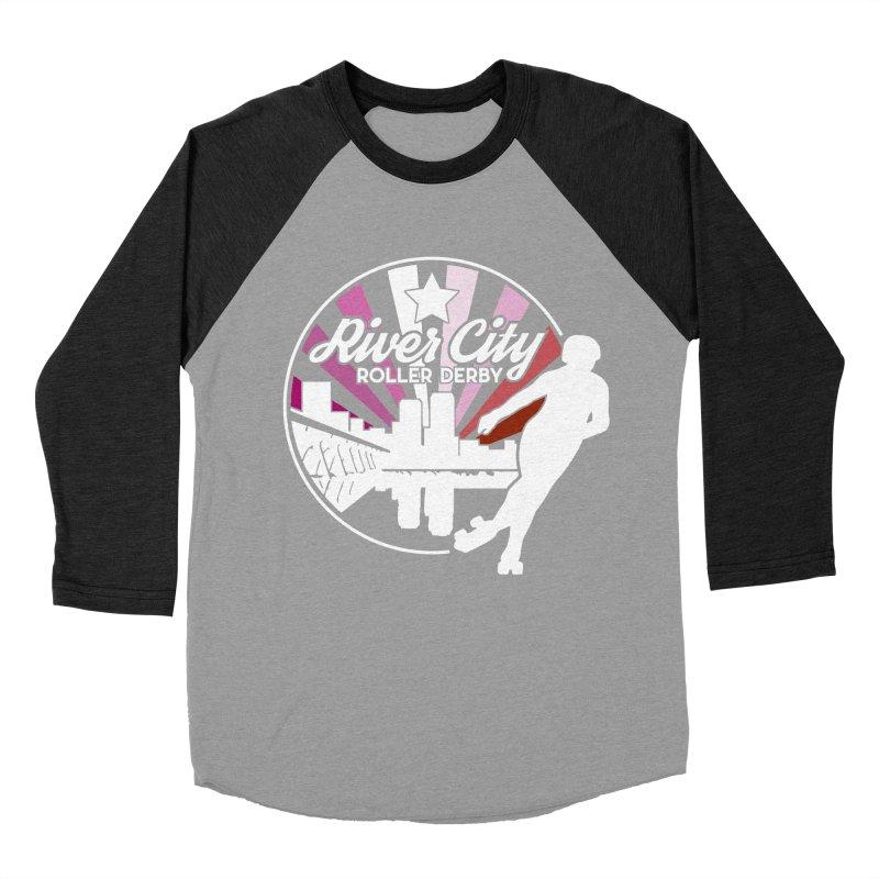 2019 Lesbian pride (alt) Men's Baseball Triblend Longsleeve T-Shirt by River City Roller Derby's Artist Shop