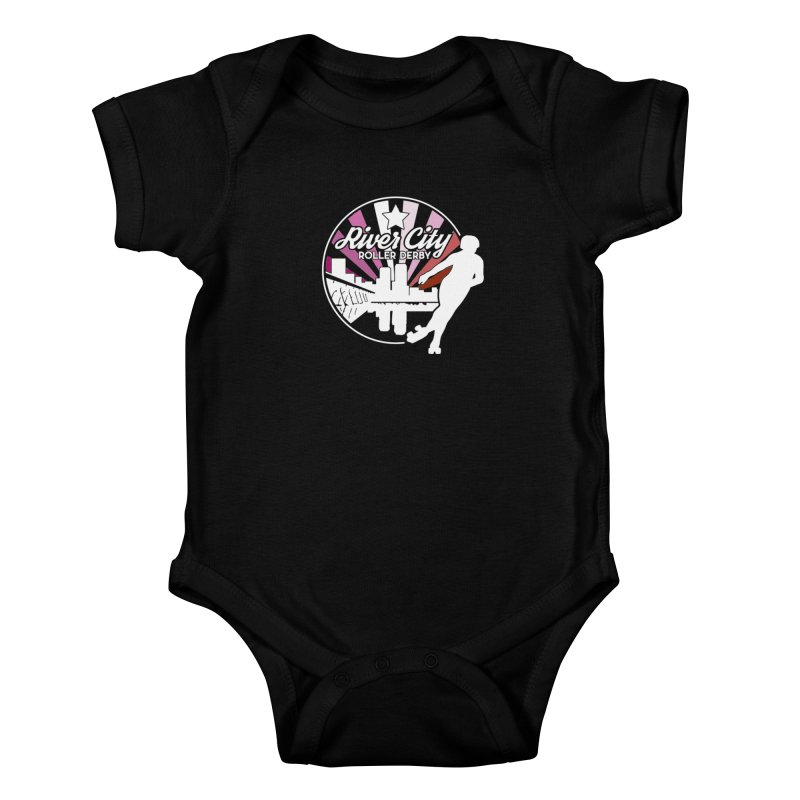 2019 Lesbian pride (alt) Kids Baby Bodysuit by River City Roller Derby's Artist Shop