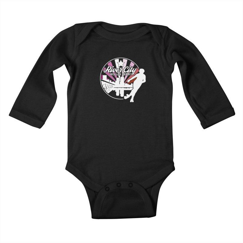 2019 Lesbian pride (alt) Kids Baby Longsleeve Bodysuit by River City Roller Derby's Artist Shop