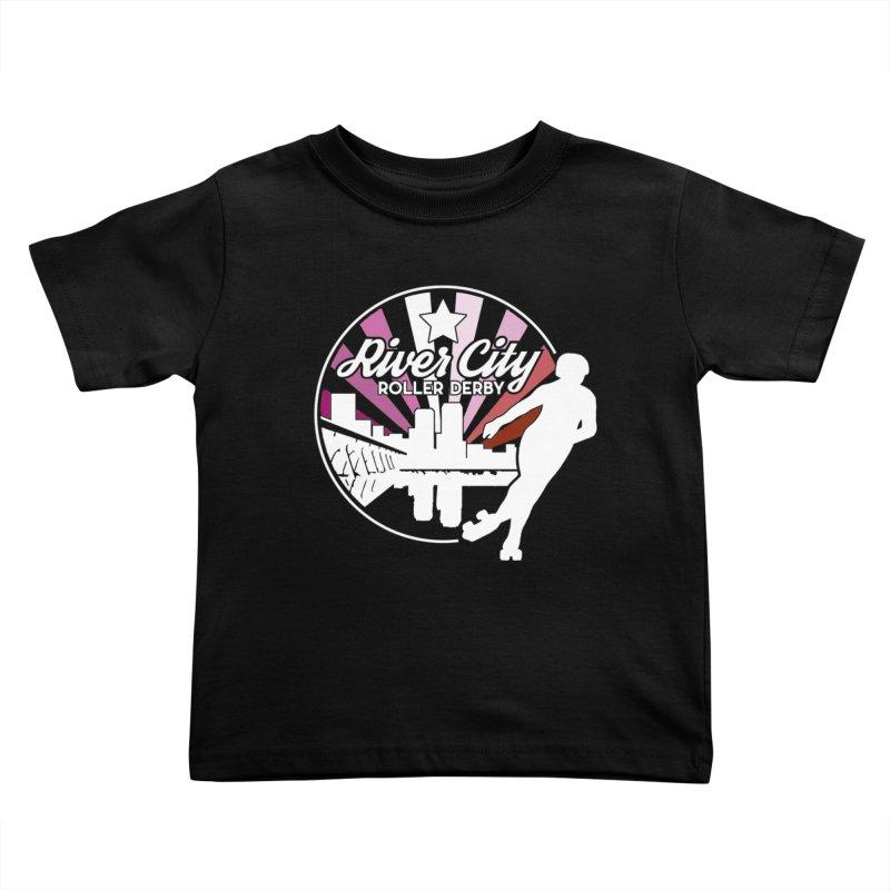 2019 Lesbian pride (alt) Kids Toddler T-Shirt by River City Roller Derby's Artist Shop