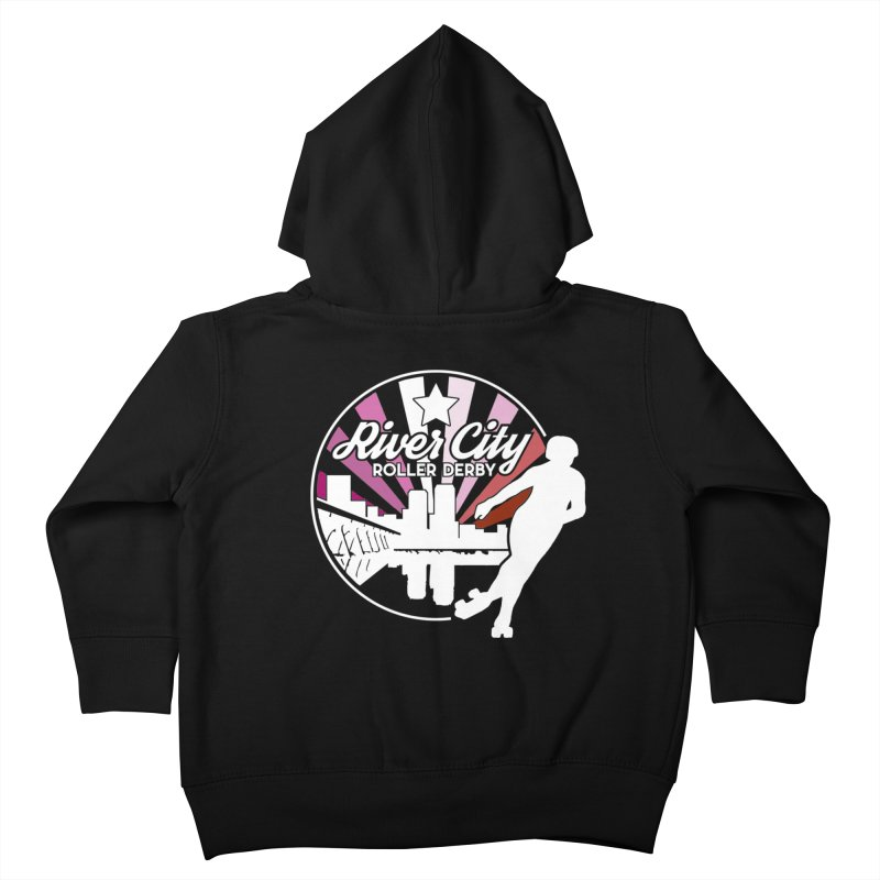 2019 Lesbian pride (alt) Kids Toddler Zip-Up Hoody by River City Roller Derby's Artist Shop