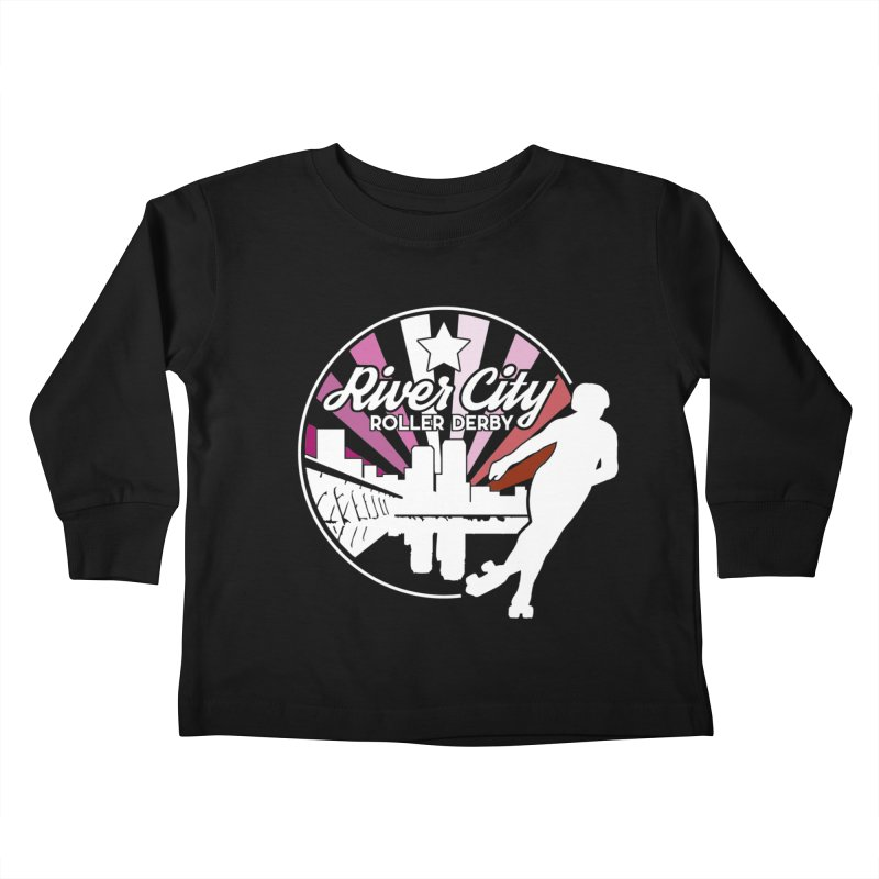 2019 Lesbian pride (alt) Kids Toddler Longsleeve T-Shirt by River City Roller Derby's Artist Shop
