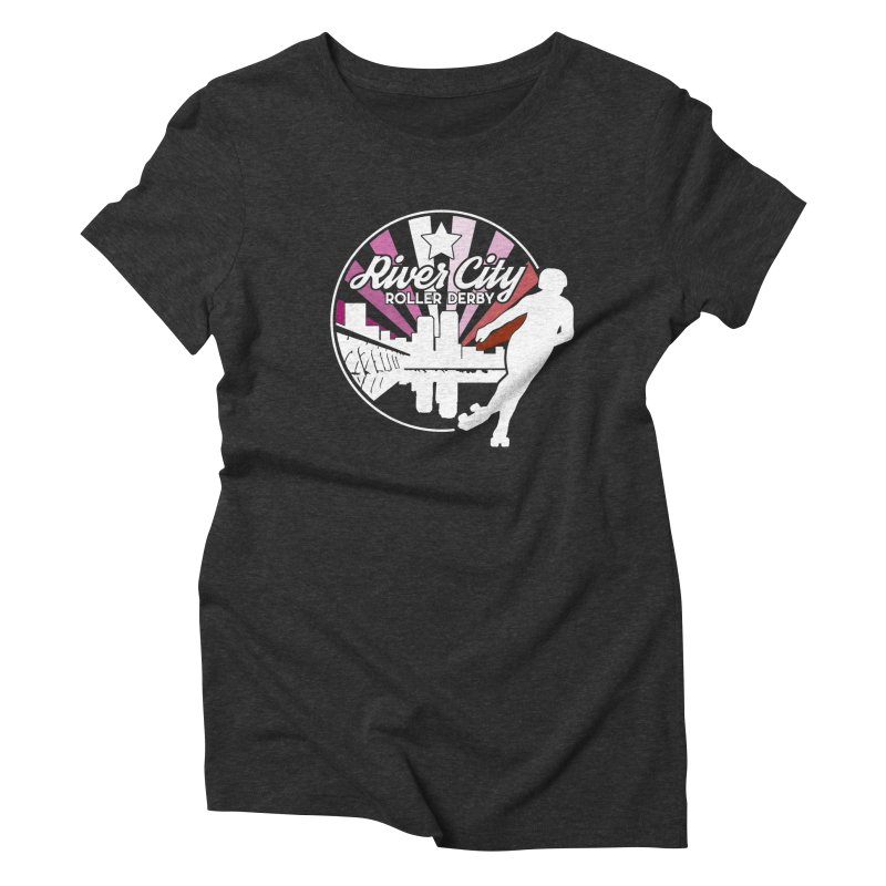 2019 Lesbian pride (alt) Women's Triblend T-Shirt by River City Roller Derby's Artist Shop