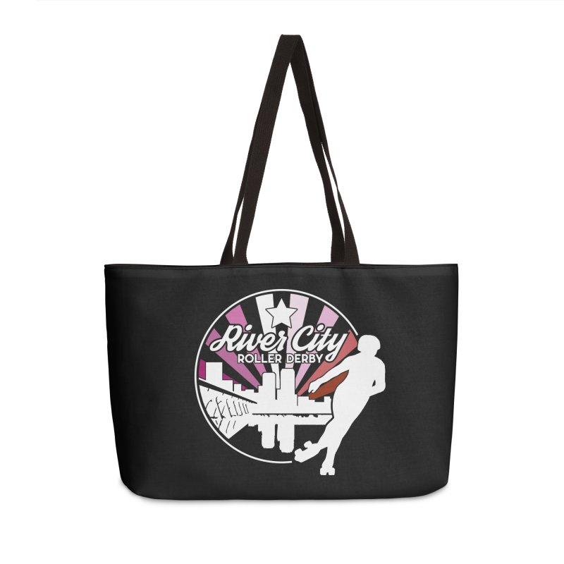 2019 Lesbian pride (alt) Accessories Weekender Bag Bag by River City Roller Derby's Artist Shop