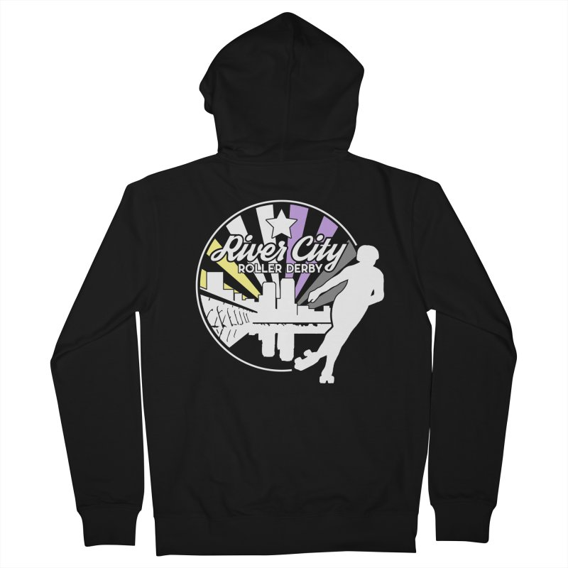 2019 Nonbinary Pride (alt) Women's French Terry Zip-Up Hoody by River City Roller Derby's Artist Shop