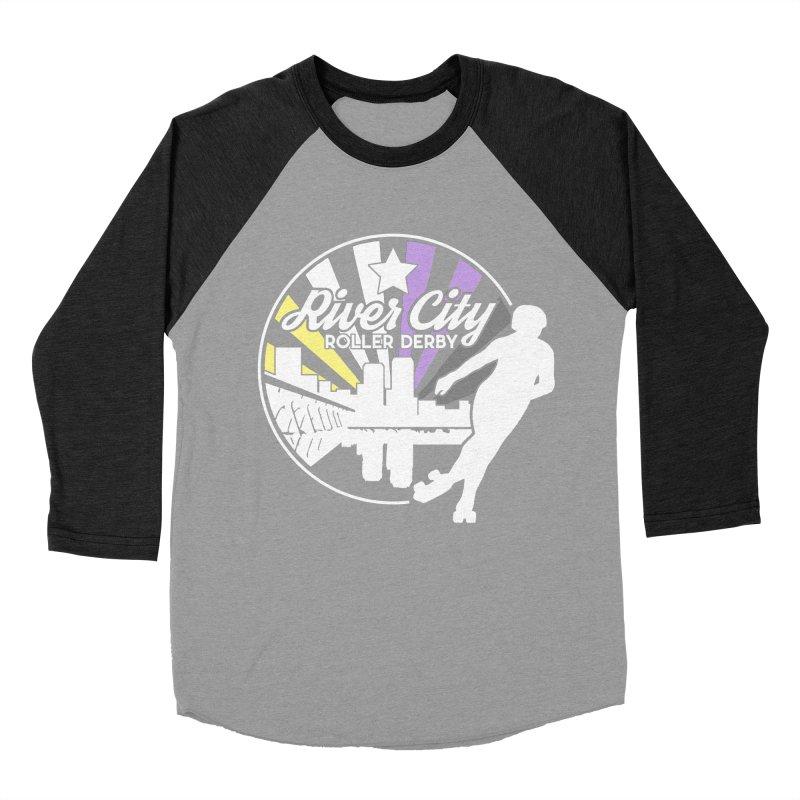 2019 Nonbinary Pride (alt) Women's Baseball Triblend Longsleeve T-Shirt by River City Roller Derby's Artist Shop
