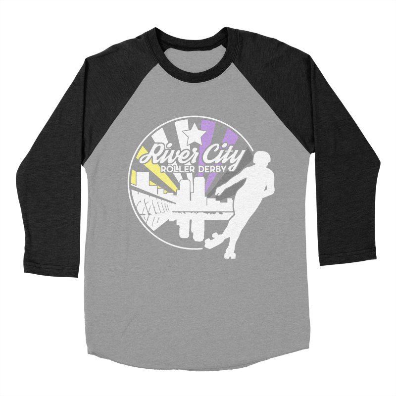 2019 Nonbinary Pride (alt) Men's Baseball Triblend Longsleeve T-Shirt by River City Roller Derby's Artist Shop