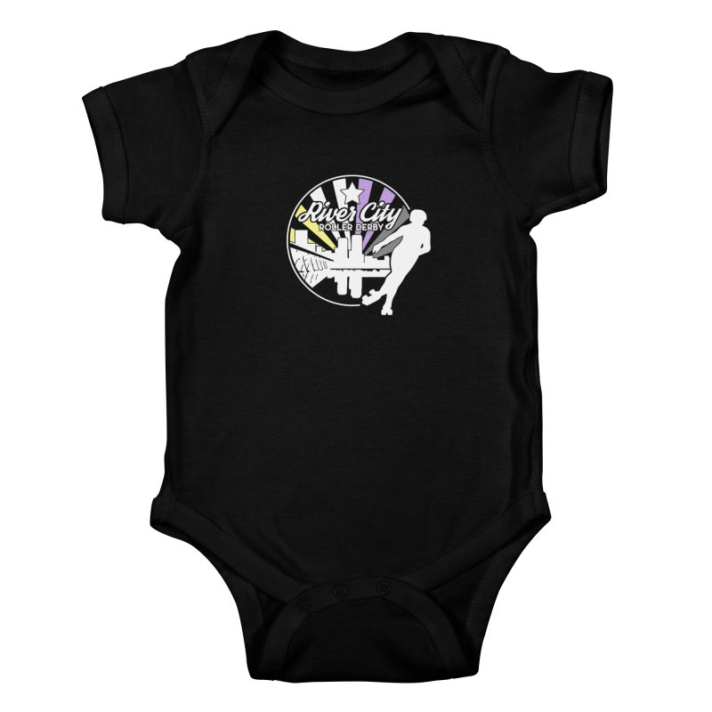 2019 Nonbinary Pride (alt) Kids Baby Bodysuit by River City Roller Derby's Artist Shop