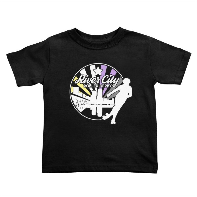2019 Nonbinary Pride (alt) Kids Toddler T-Shirt by River City Roller Derby's Artist Shop