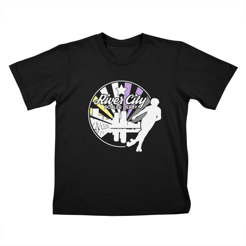 2019 Nonbinary Pride (alt) Kids T-Shirt by River City Roller Derby's Artist Shop