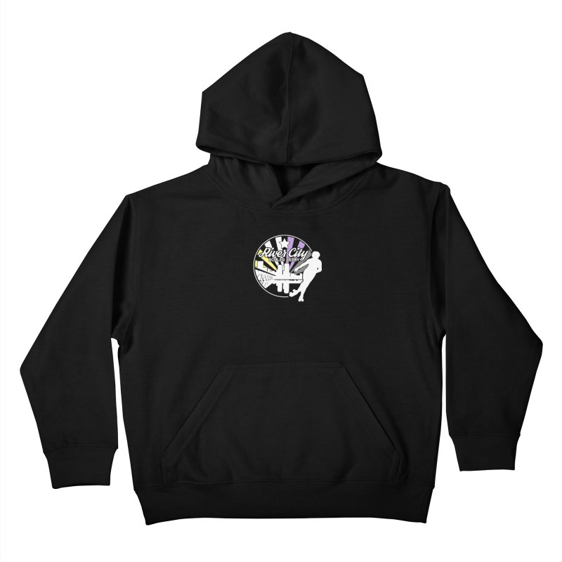 2019 Nonbinary Pride (alt) Kids Pullover Hoody by River City Roller Derby's Artist Shop