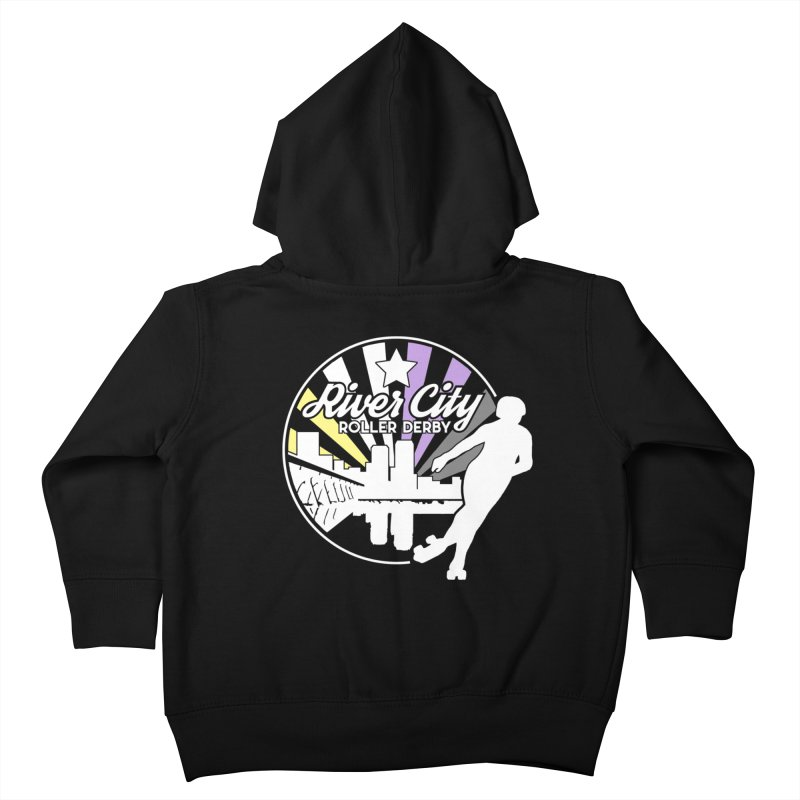 2019 Nonbinary Pride (alt) Kids Toddler Zip-Up Hoody by River City Roller Derby's Artist Shop