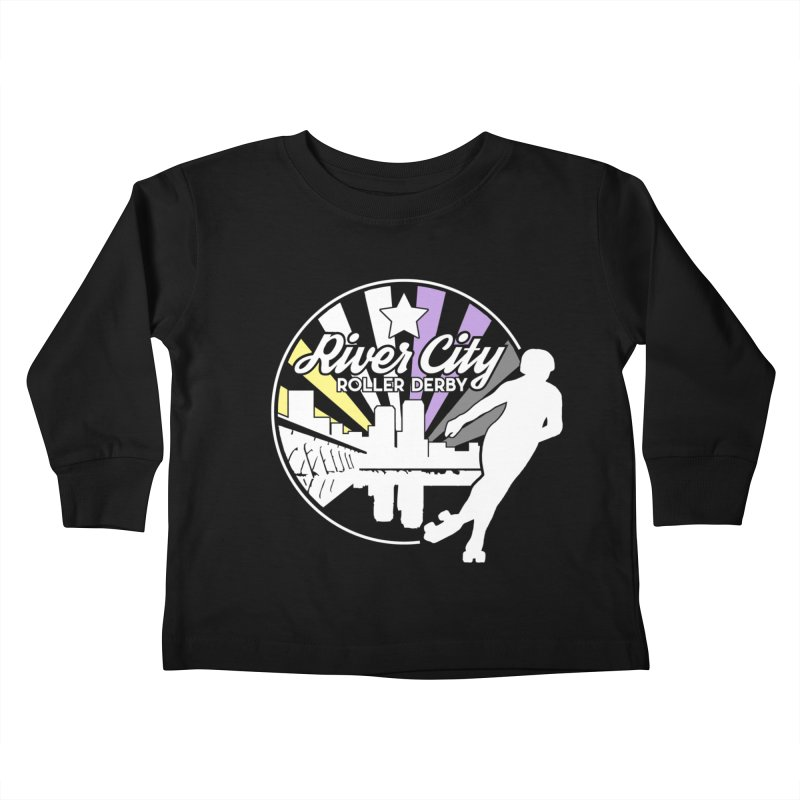 2019 Nonbinary Pride (alt) Kids Toddler Longsleeve T-Shirt by River City Roller Derby's Artist Shop