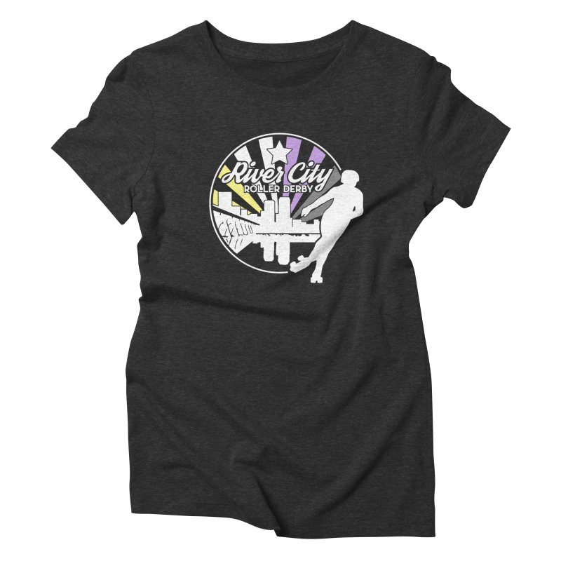 2019 Nonbinary Pride (alt) Women's Triblend T-Shirt by River City Roller Derby's Artist Shop